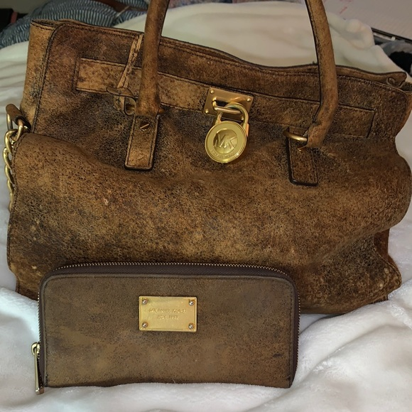 Micheal kors  suede purse and wallet
